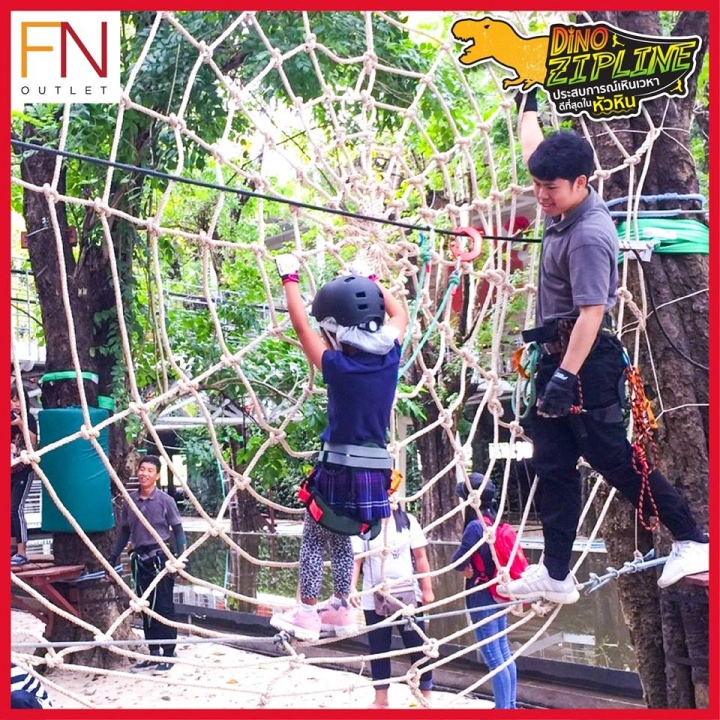 Dino Zip Line @FN Outlet หัวหิน